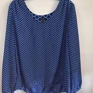 Anne Klein honeycomb blouse